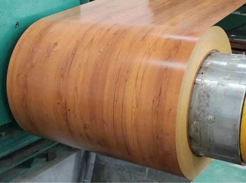 AZ120 wooden color PPGI/prepainted galvanized steel coil
