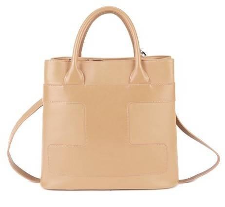 Calfskin leather OL handbag. Elegant handbag for lady