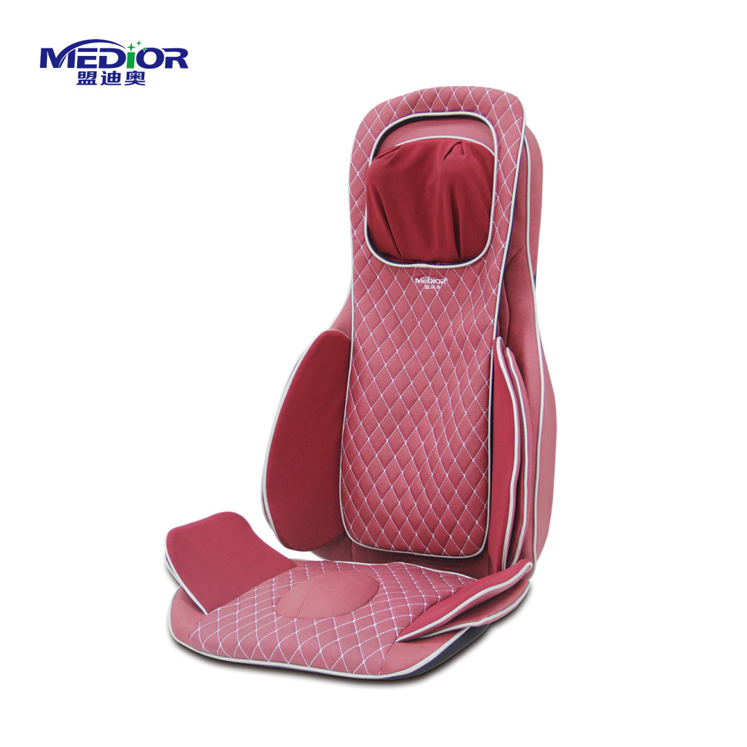 Portable multi-function car kneading and tapping back massage cushion with air pressure