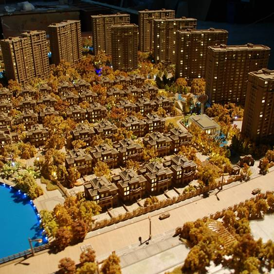 ARCHITECTURAL EXHIBITION MODEL FOR REAL ESTATE SELLING