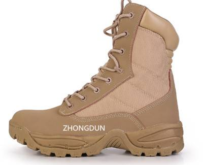 leather upper rubber sole military boot ZD112S