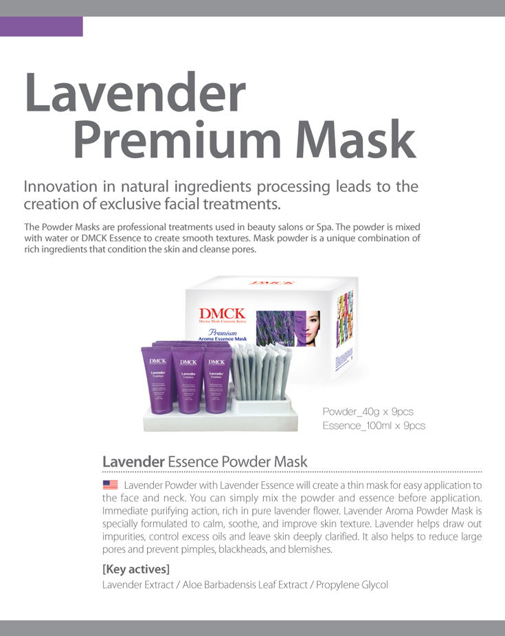 DMCK Premium Lavender Essence Aroma Powder Mask - for troubled skin