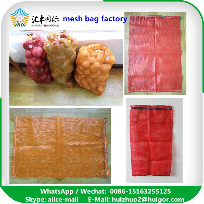 highly quality mesh bag for onion, potato and other vegetables, fruits