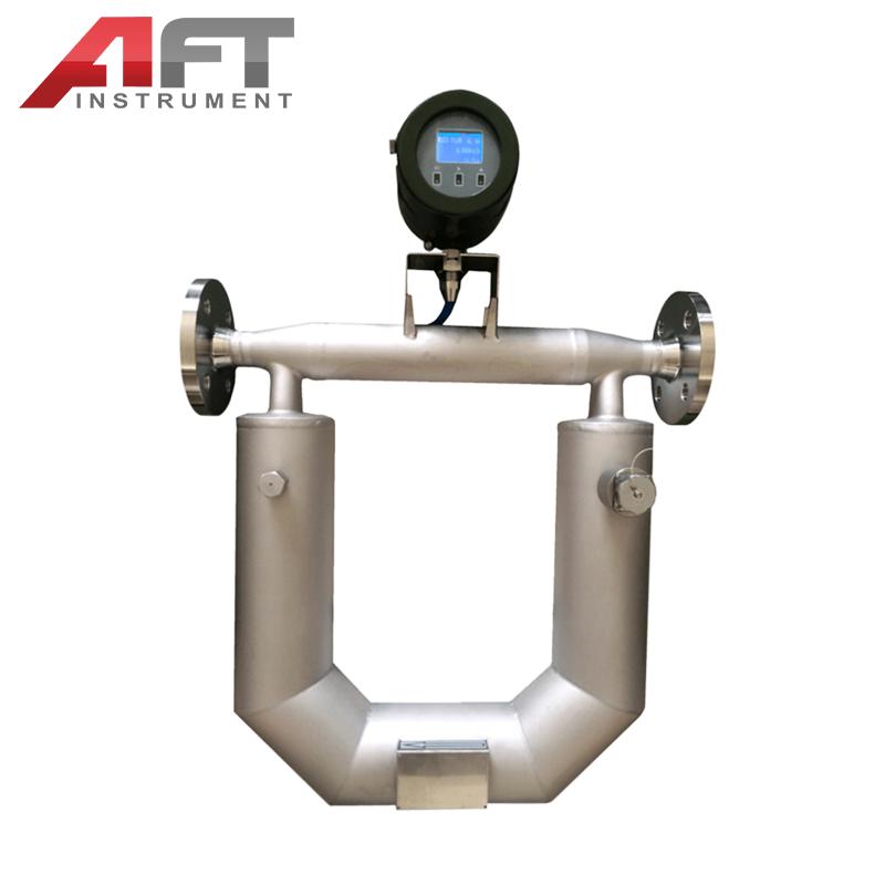 U type modbus output stainless steel coriolis mass flowmeter