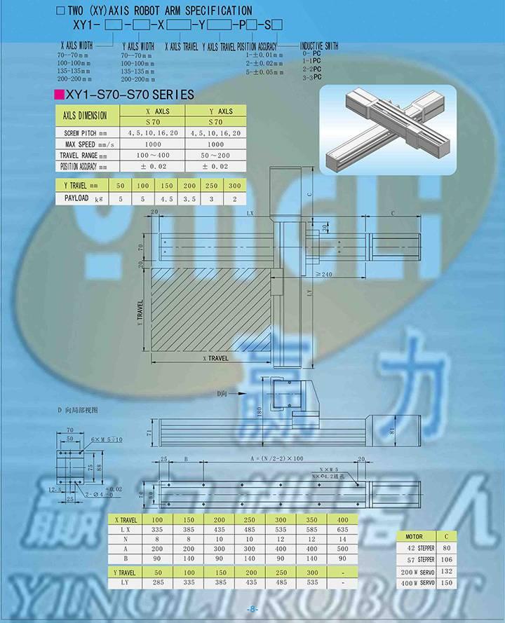 2 axis high precision robot arm