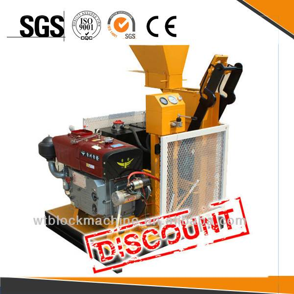 interlock block WT1-25 diesel engine block and brick making machine