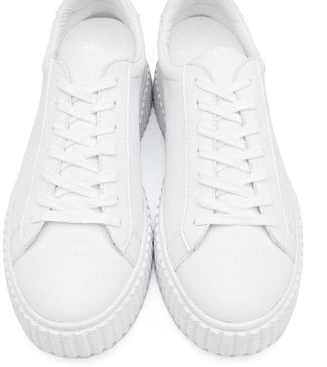 6CM UNISEX WHITE RUNNER ELEVATOR SNEAKERS CL0018