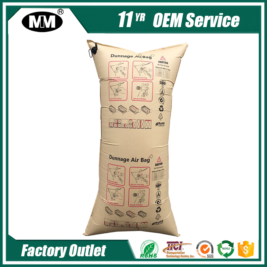 Cargo transport protect with dunnage air bags with logos custom