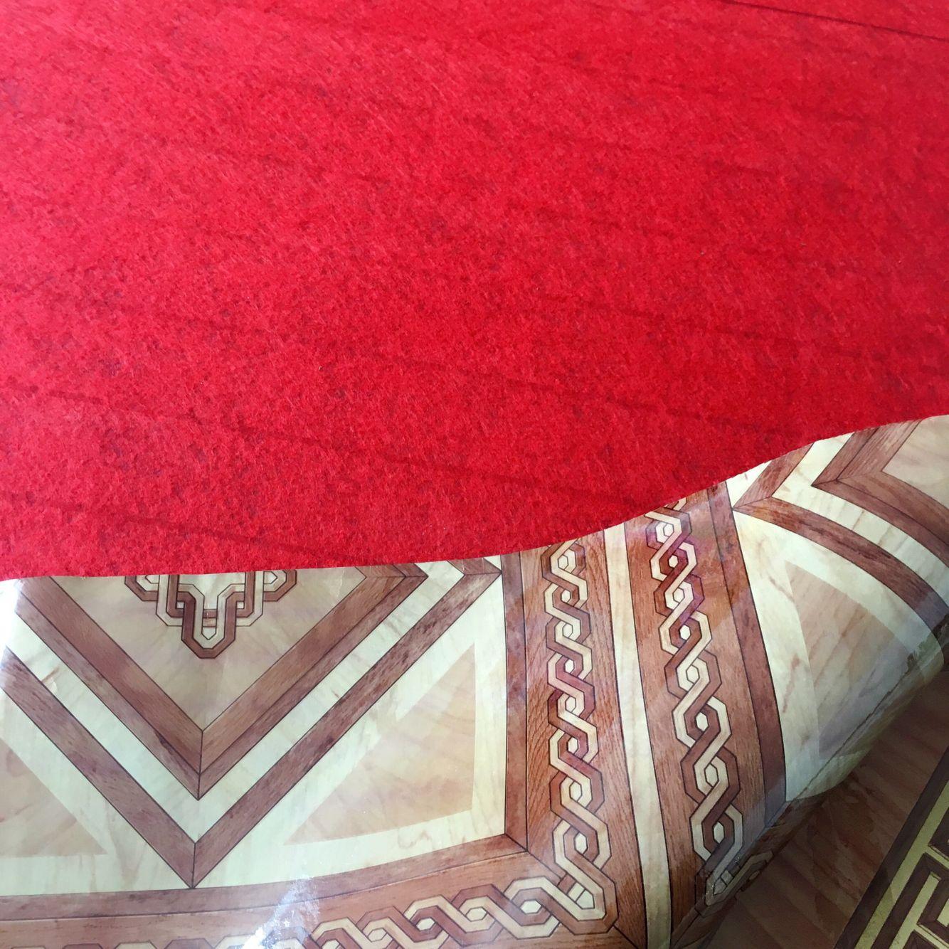 Cheap Red Felt Backing Flooring