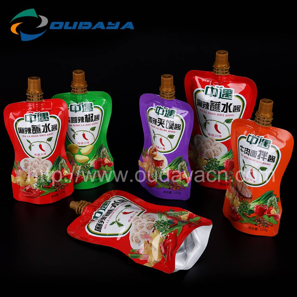 Tomato sauce stand up pouch, liquid bag custom printing