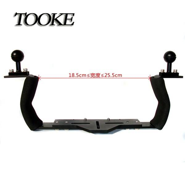 Tooke Underwater Housing Diving  Arm System - Base Tray with double Handle - Ball Adapter