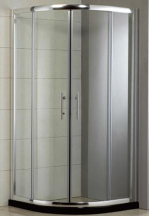 Custom Conner Curved Sliding Glass Quadrant Shower Enclosures
