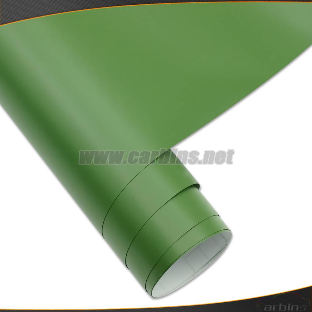 1.52*30m Matt Army Green Color Change Waterproof Vinyl Car Sticker With Air Bubble Free