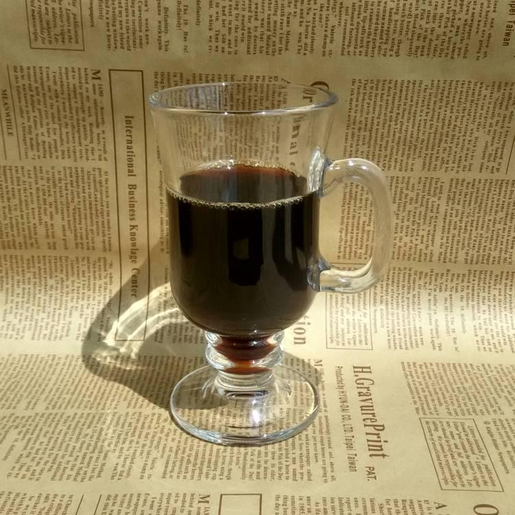 Classic Irish Coffee Glass Cup Handle Hot Coffee Glass Drinking Coffee Glas Cup
