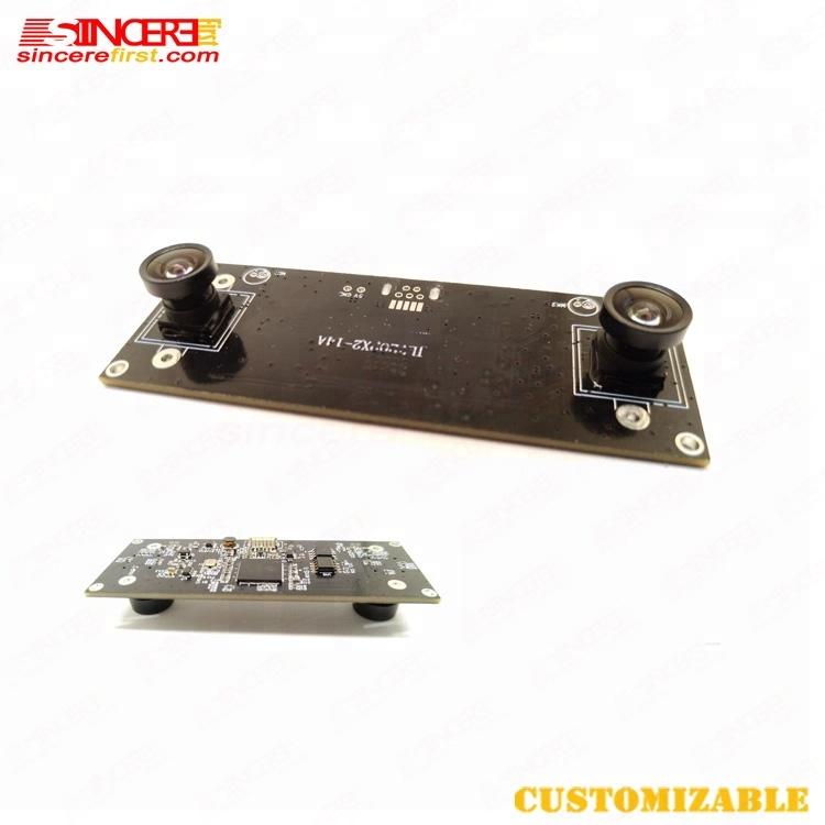 Factory USB 2.0 UVC free drive binocular 720P 3D dual camera module