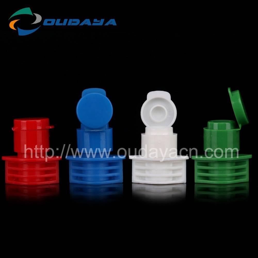 10mm Colorful Plastic Flip Top Caps Suction Nozzle For Beverage Bottle