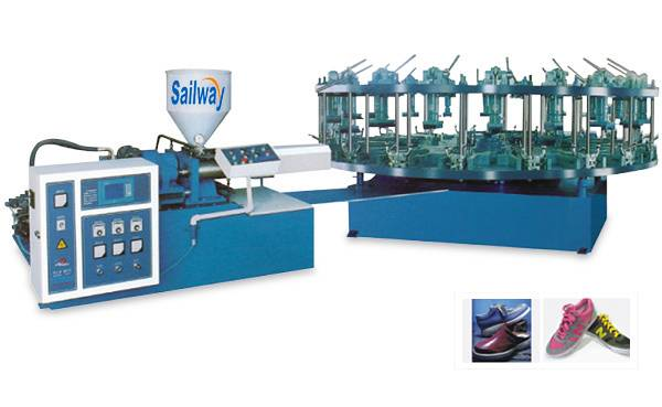 SW-987/16-20 Rotary Type Full-automatic Once-through Upper Linking Injection Molding Machine