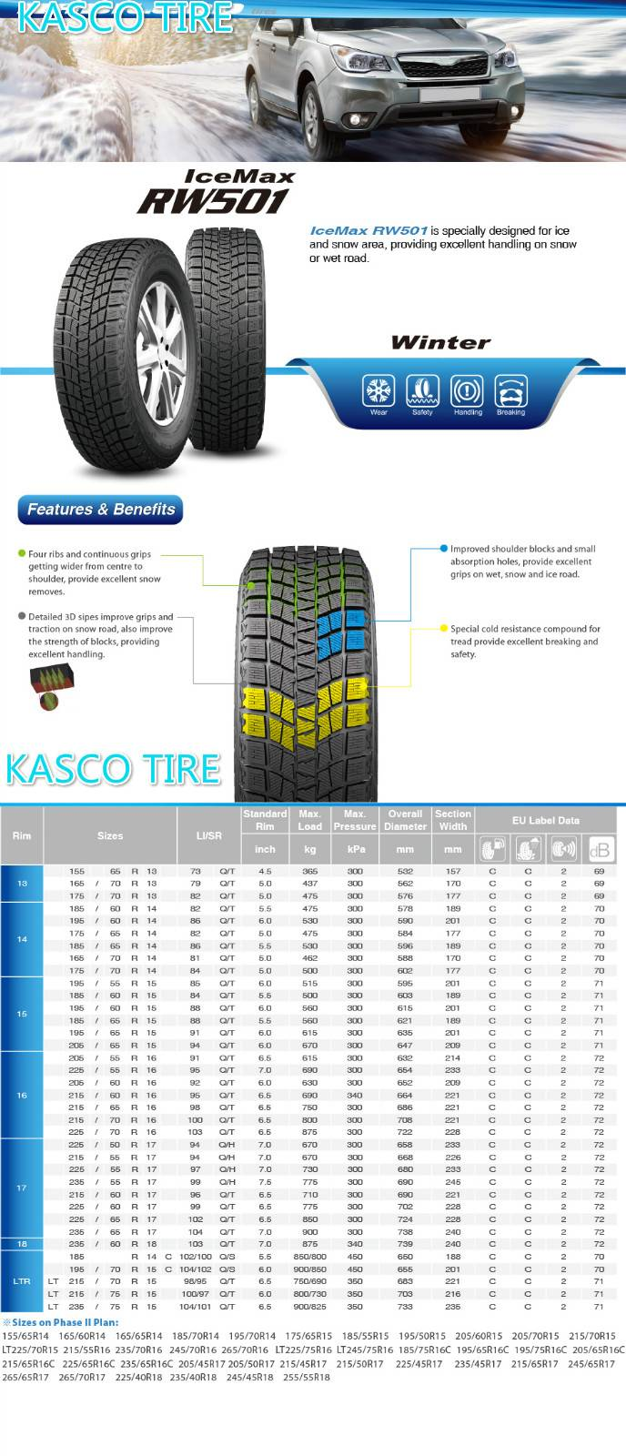 PCR-Winter tires