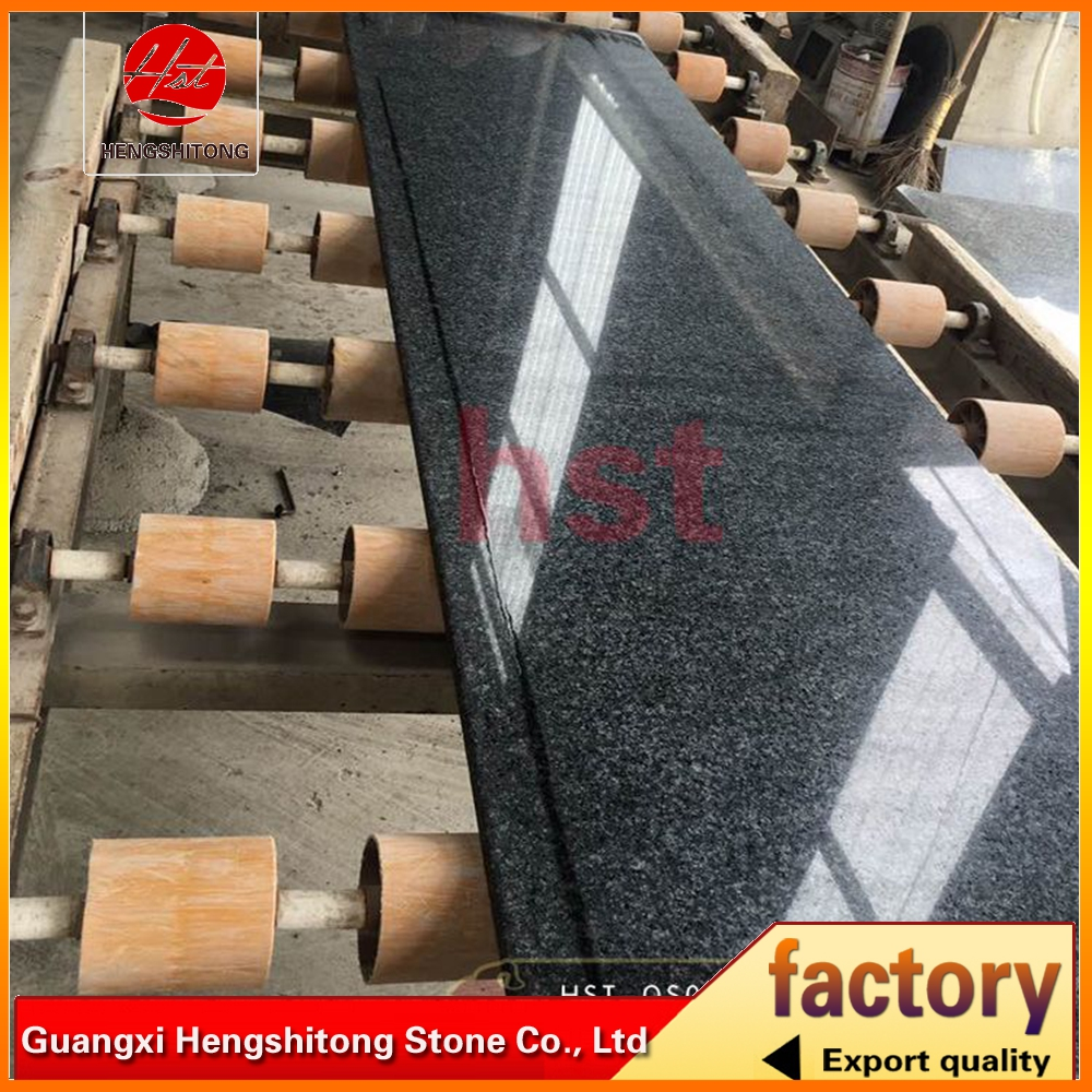 deep blue granite slabs with polished surface