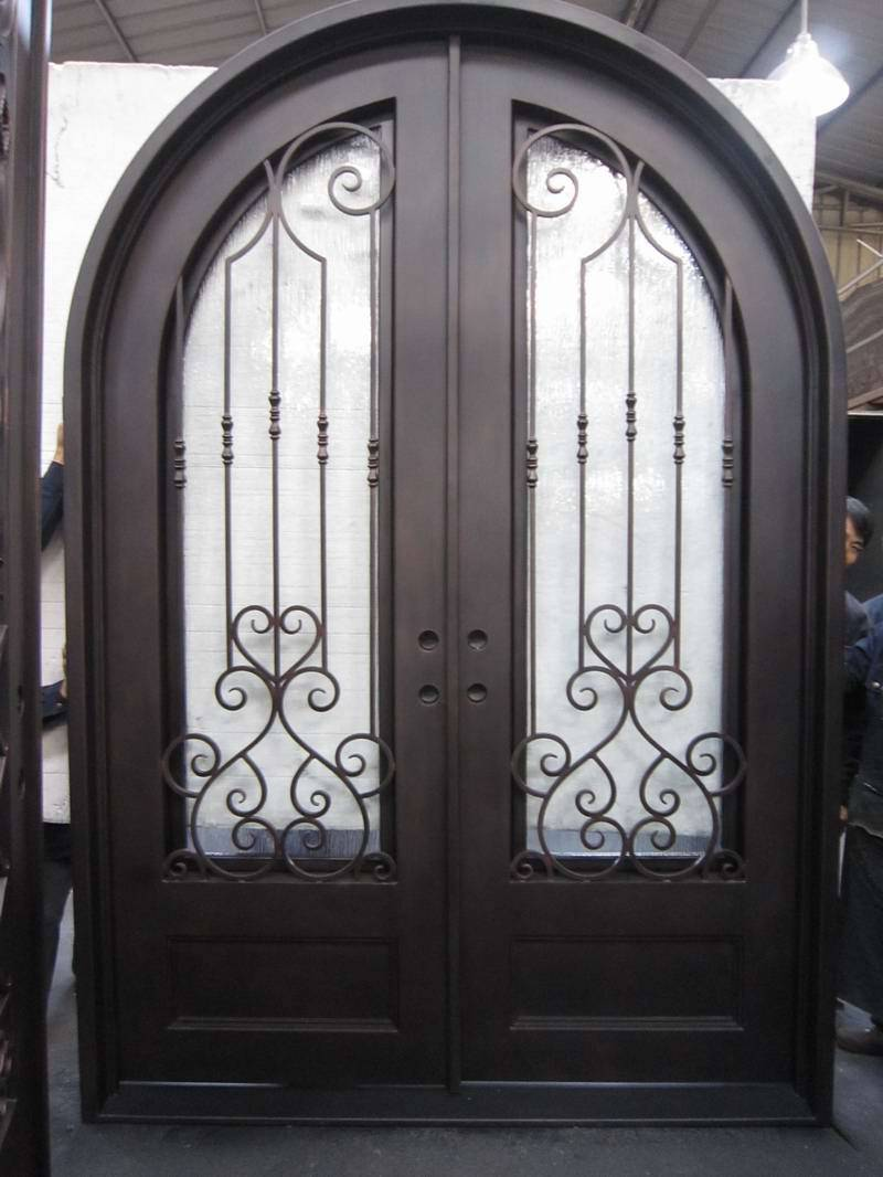 Iron main entrance doors grill designs steel grill door for Main entrance double door design