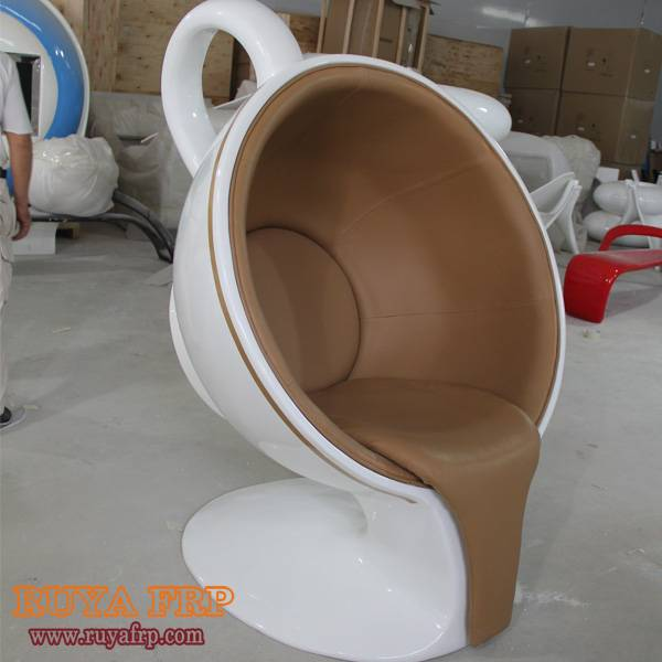 Coffee cup chair,commercial furniture waiting leisure chair China fiberglass customzied factory RUYA