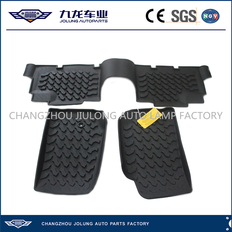 Floor Mat Set for Jeep Wrangler-4x4 Off Road Floor Liners-Wrangler Foot Pad