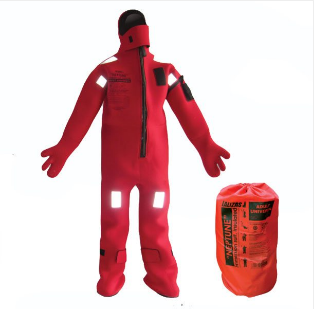 Neoprene thermal insulation buoyant immersion suit