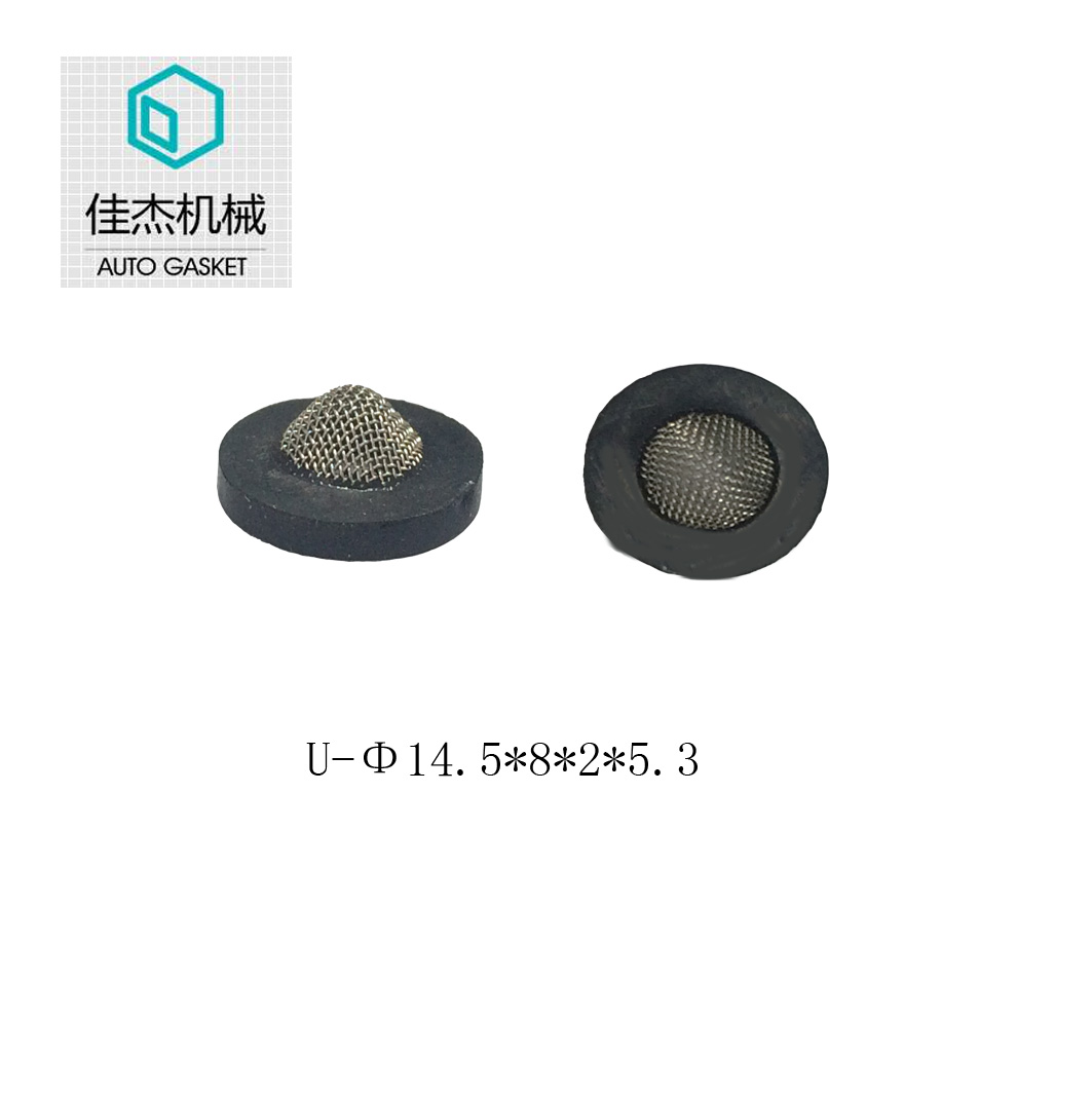 rubber wrapping filter mesh gasket on water cleaning machine