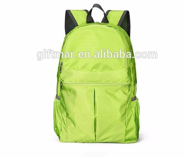 2016 OEM/ODM customized backpack polyester foldable daypack outdoor hiking rucksack unisex travel ba