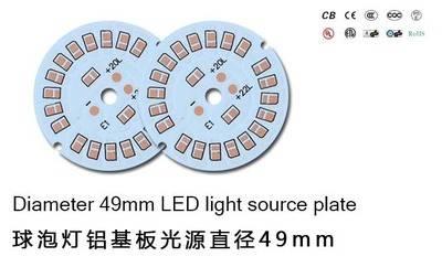 LED bulb light aluminum plate diameter 49mm LED spotlights homegrown manufacturers 2-5W
