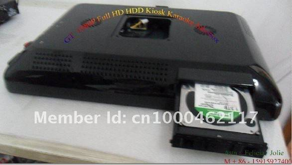 1080P Full HD HDD Karaoke Player with 19'' touch screen kisok karaoke player