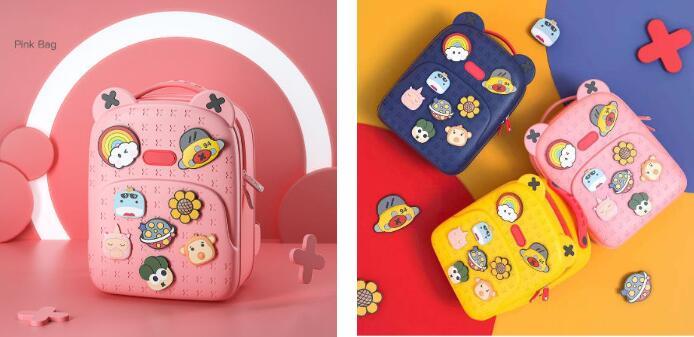 8 DIY Decorative Shoulder Children's School Backpacks, Large-Capacity Backpacks