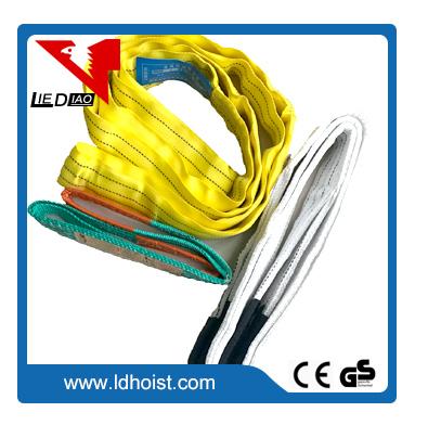 Webbing sling construction lifting belt