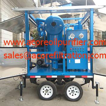 Mobile Transformer Oil Purification Plant Manufacturer