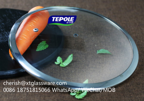 4.0mm Thickness Tempered Glass Lid For Cookware With FDA LFGB ISO9001