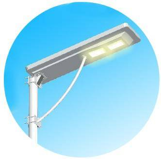 New LED solar integrated street light with solar panel