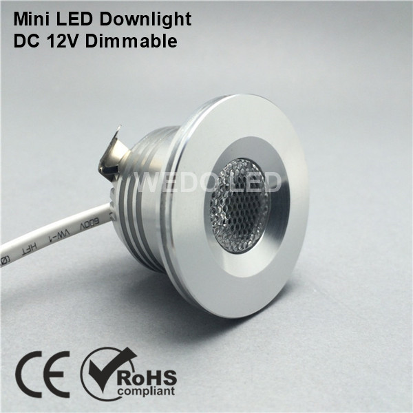 DC 12V Mini Dimmable Recessed LED Downlight