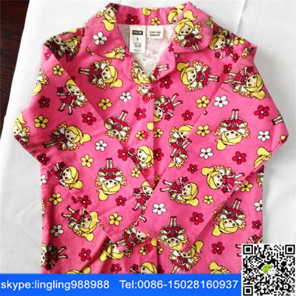 cotton flannel fabric for kids pajamas