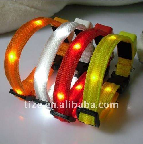 Lighted 8 led dog collar for dogs  TZ-PET1114