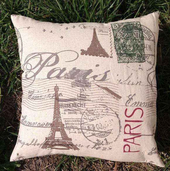 Beautiful Printed Pillow Case & Back Cushion