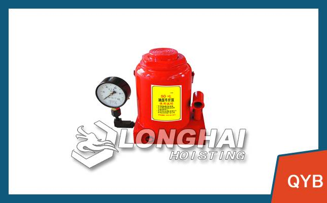 Destructive testing with a hydraulic jack with pressure gauge | displayed directly bearing the weigh