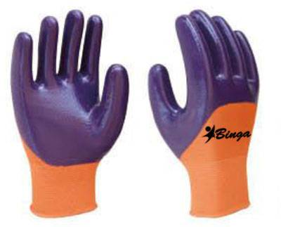 Latex Half Coated 13G High Grade Polyster Shell Safety Glove