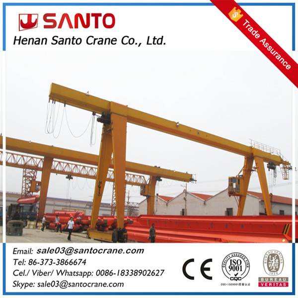 Ourdoor used MH model single girder mobile gantry crane with electric hoist