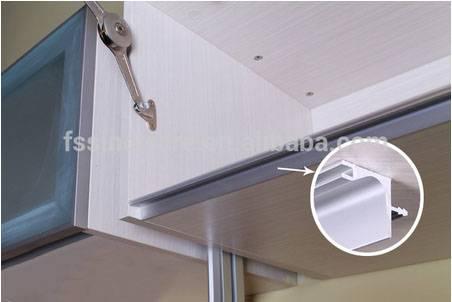 Aluminium gola profile for wall units