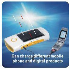 FL-810C Solar Flashlight with Radio&Charger for Cellphone, Switch function to charge cellphone by so