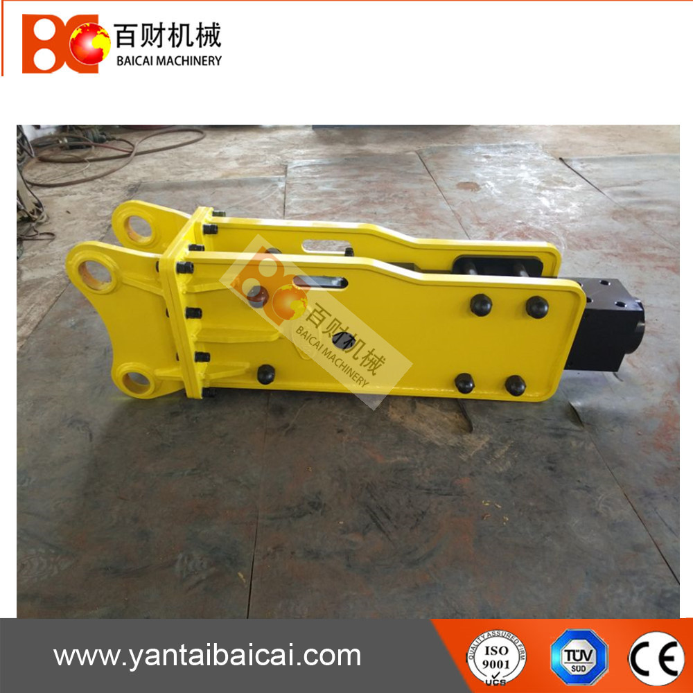 Top type excavator hydraulic rock demolition breaker hammer with chisel