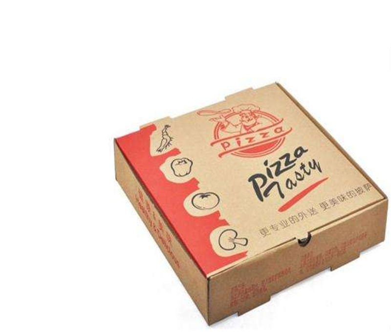 Takeaway corrugated paper red box pizza image