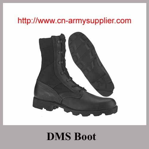 Full grain leather RUBBER Sole Army Military DMS Boot