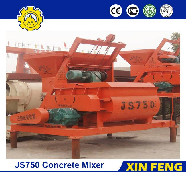 JS750 even shaft concrete mixer
