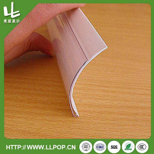 Supermarket PVC Food Grade Shelf Holder